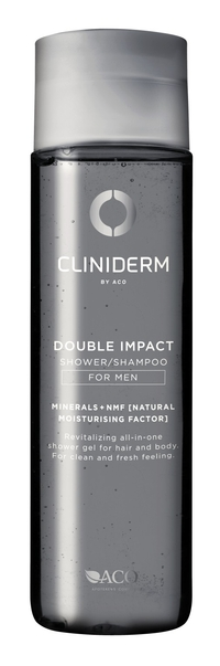 ACO Cliniderm For Men Double Impact Shower/Shampoo 250 ml