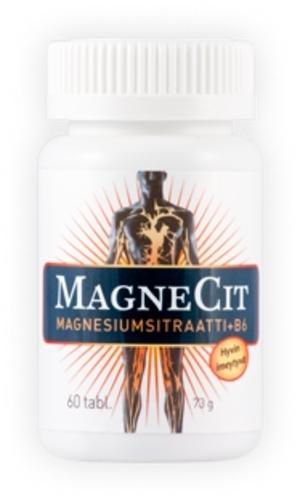 MagneCit magnesiumsitraatti-B6-vitamiinivalmiste 60 tablettia