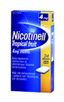 Nicotinell Tropical Fruit 4 mg 24 lääkepurukumia