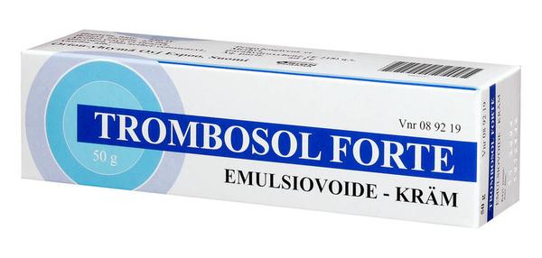 Trombosol forte poistunut