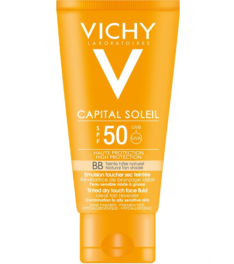 vichy capital soleil bb dry touch spf 50 50 ml tuote. Black Bedroom Furniture Sets. Home Design Ideas