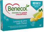 Benecol Soft Chew Lemon & Lime 45 kpl