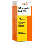Mucoratio 600 mg 10 poretablettia